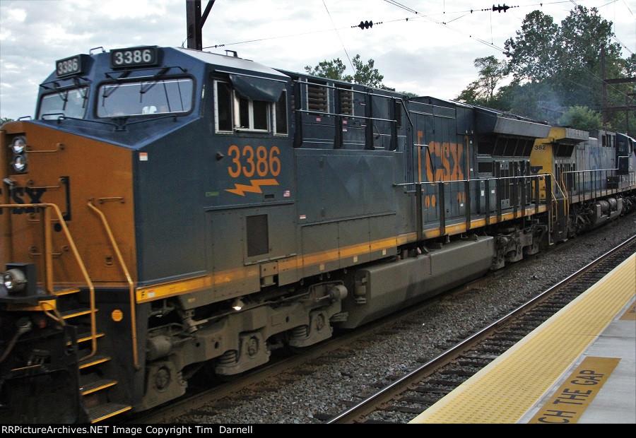 CSX 3386 third on Q301